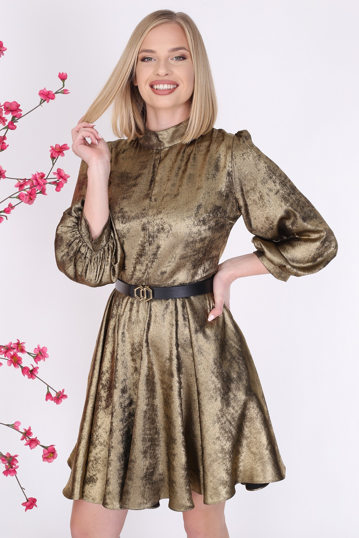 Shiny Gold Color Dress