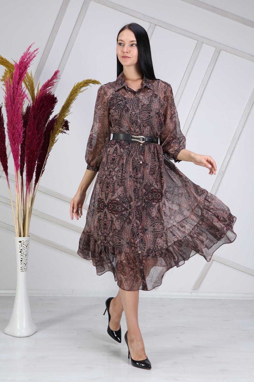 Shawl Pattern Claret burgundy Dress