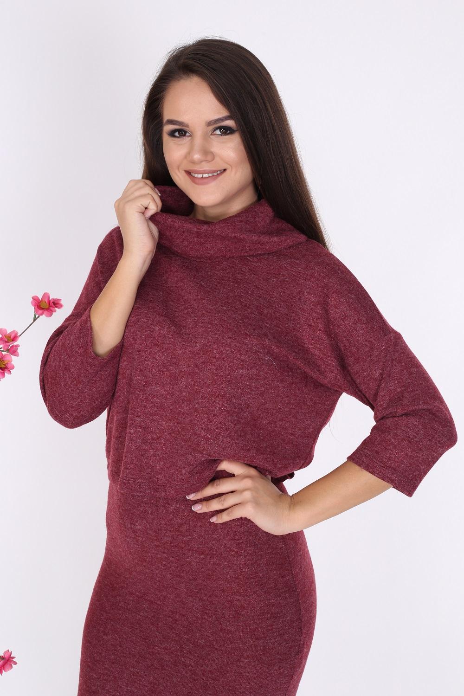 Claret Red Knitwear Set