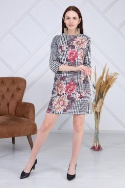 Floral patterned crowbar dress