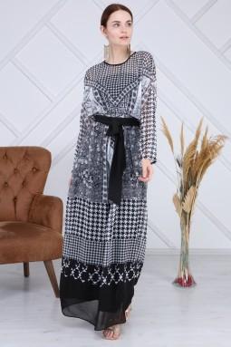 Multi Pattern Long Dress