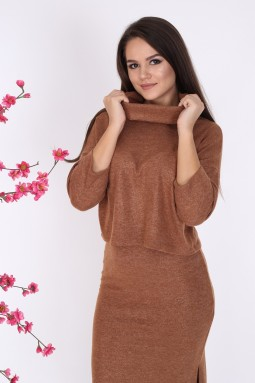 Brown Knitwear Set