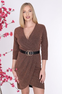 Belted Double Breasted Dress