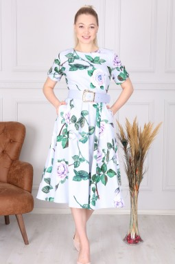Lilac Floral Pattern Dress