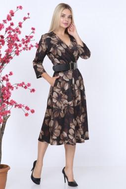 Violet Patterned Mink Dress