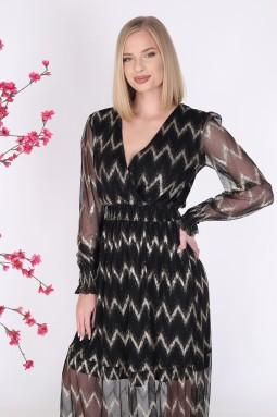 Black Color Long Tulle Dress