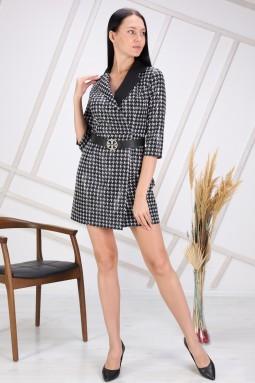 Black Dice Pattern Dress