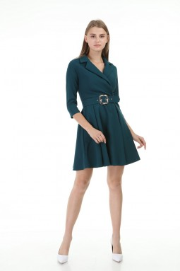 Emerald Short Pleated Dress