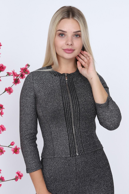 Zippered Black Knitwear Set