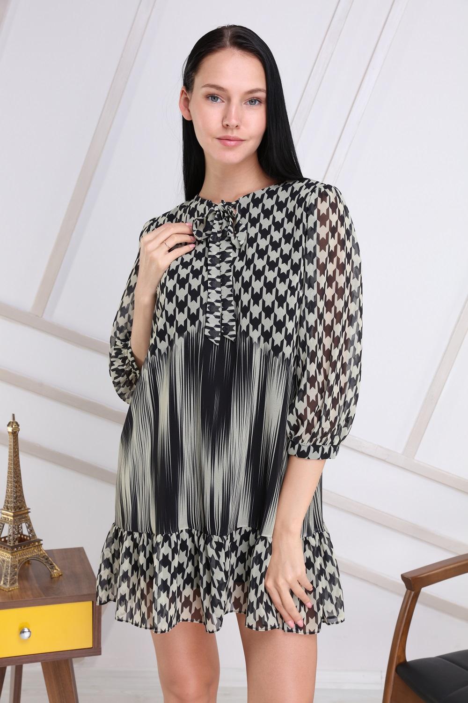 Khaki Crowbar Collar Tie Dress
