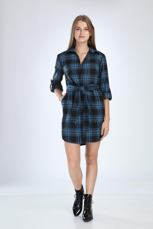 Blue Plaid Dress
