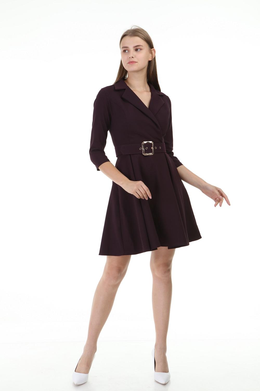 Purple Short Pleated Dress