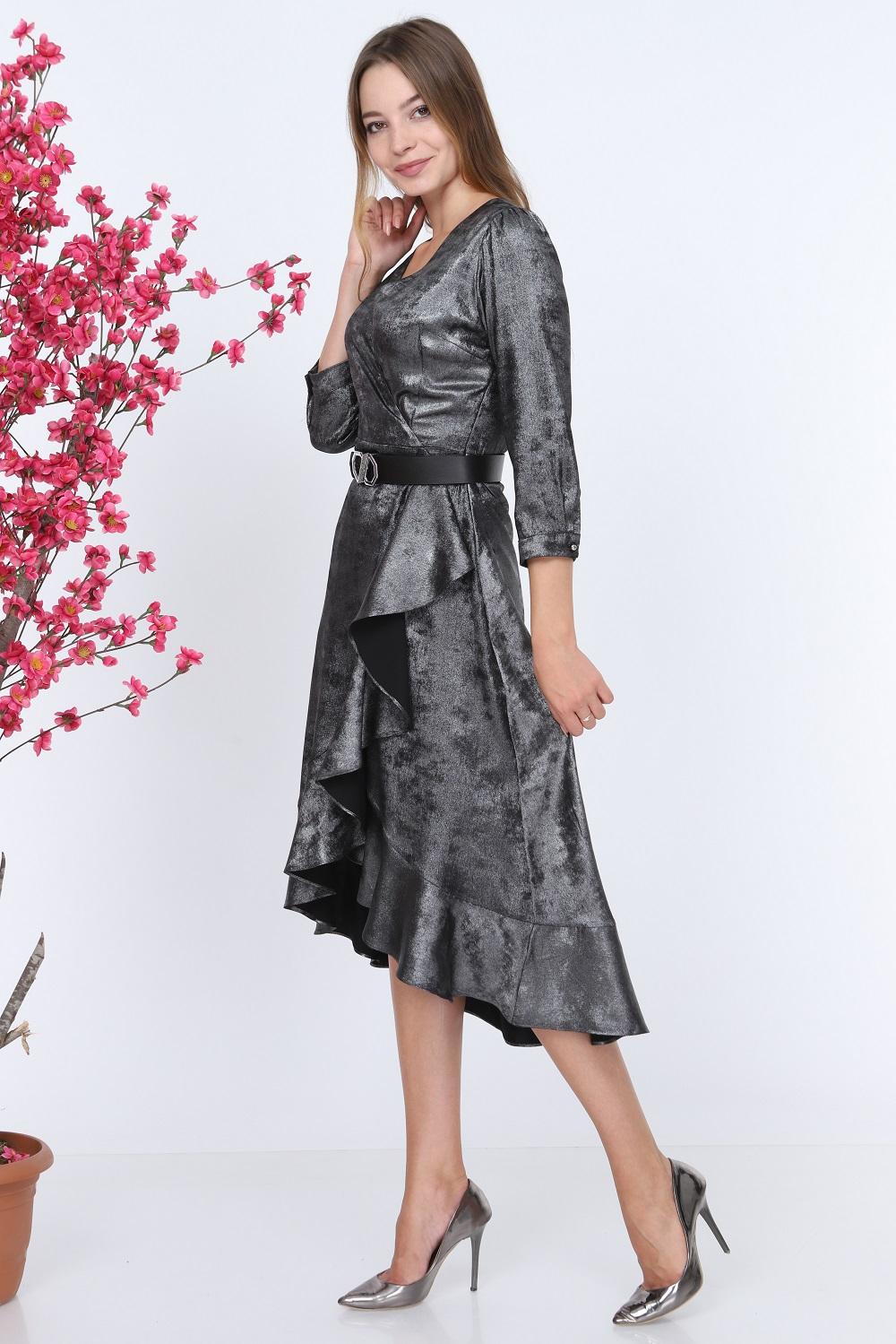 Shiny Fabric Silver Dress