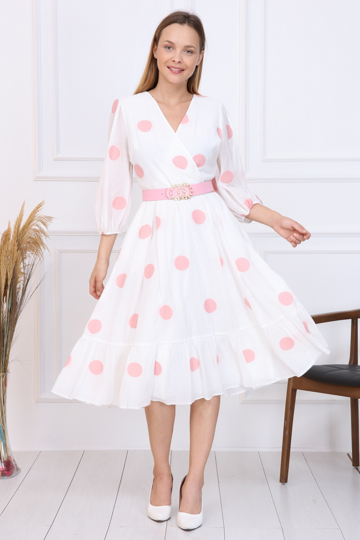 Pink Polka Dot French Dress