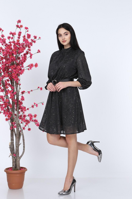 Silvery Black Dress