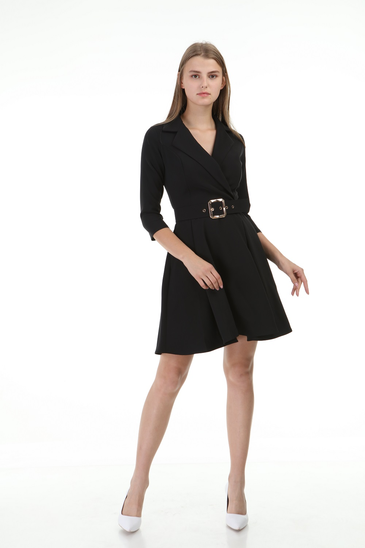 Black Short Pleated Dress