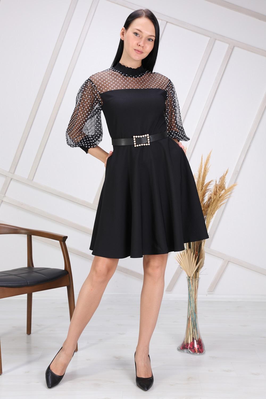 Black Color Polka Dot Tulle Dress