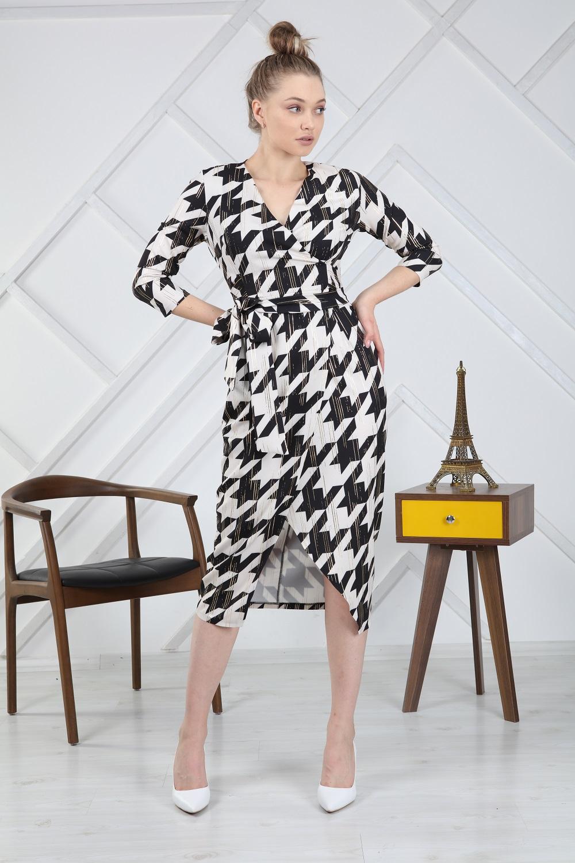 Foil Crowbar Pattern Dress